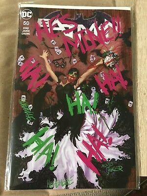 Batman Volume 3 #50 Midtown exclusive Joe Jusko Joker Graffiti Variant Cover