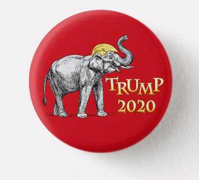 Trump Red  Baby Elephant 2020 Political Button Pin 1.25 Inch Reelection Badge