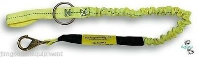 """Tear Away Bungee Chainsaw Lanyard,48"""" With # 2 Bronze Snap, Made in USA Weaver"""
