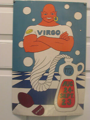 OLD RARE Ad Poster Art Print MR Clean Virgo 1967 Personality J P Fosso Artist