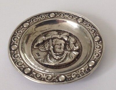 Antique Sterling silver pin dish, 1897, Edwin Thomas Bryant
