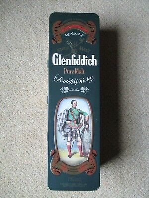 """GLENFIDDICH Scotch Whisky Tin box Clan """"Macpherson"""" with insert #4 in series"""