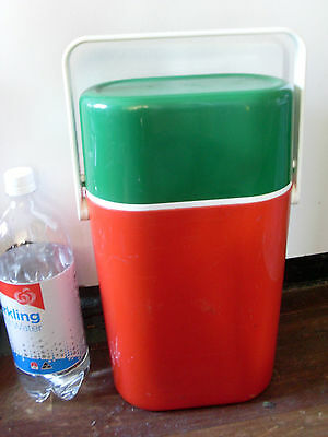 1980S Insulated Decor Byo 2 Bottle Carrier * Green / Red / White Party  Bbq