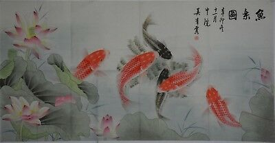 Magnificent Large Chinese Painting Signed Master Wu Qingxia No Reserve I7861