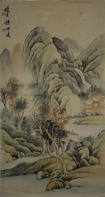 Delicate Large Chinese Painting Signed Master Xu Bangda No Reserve R9157