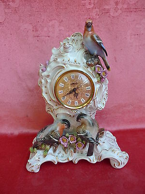 Very Nice Fireplace Clock __Porcelain__ Marked: Dragon __ with Birds __30cm__