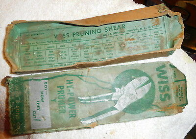 Vintage Wiss Hy-Power Garden Cutter Pruning Shears Snips USA,tool box only,empty