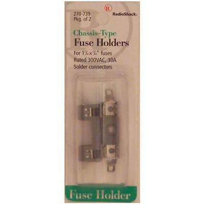 RadioShack Chassis-Type Fuse Holder 1-1/4 x 1/4 300VAC 30A Solder-Terminals 2/PK