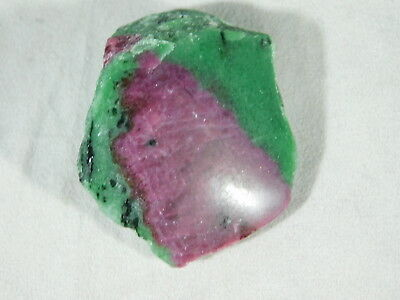 A POLISHED Red RUBY Crystal In a Green Zoisite Matrix! From Tanzania 36.1gr