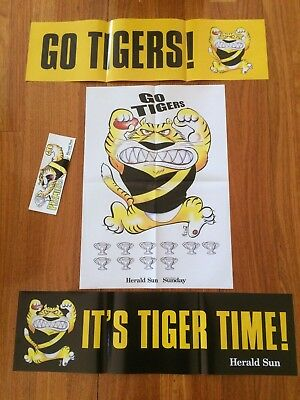 2017 AFL Grand Final Richmond Tigers Banners,Poster & Sticker - Herald Sun