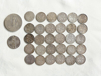 A Quantity Of Pre-1920 Silver Coins, Mainly Threepences (30) And Two Others.