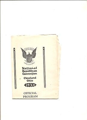 1924 National Republican Convention official program