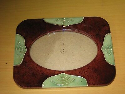 Vintage Art Deco Style Ceramic Picture / Photo Frame.