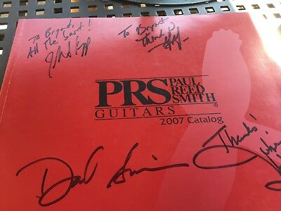 PRS Paul Reed Smith Guitar Catalog Brochure 2007 Signed!!!!!!!!