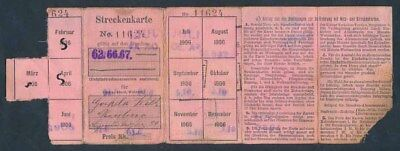 Germany: 1906 RARE Booklet of 10 Monthly Train Tickets, February to December