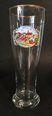 Vintage German Beer Glass 8 3/4 inch Sembach / Pfalz
