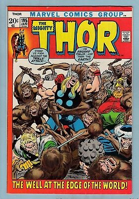 Thor # 195 Vfn (8.0)  Glossy High Grade - 1972 - Cents - 50% Off Guide