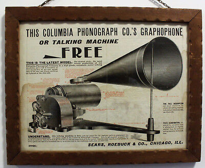 Rare Advertisement for the Columbia AP Phonograph from Sears circa 1903