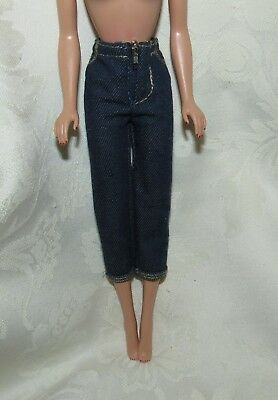 Barbie Vintage Repro Picnic Set Clam Digger Pants Jeans Fashion For Doll