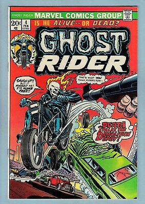Ghost Rider # 4 Vfnm (8.5/9.0)  Bright & Glossy High Grade Us Cents Copy - 1974