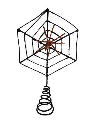 Bethany Lowe Halloween Wire Spider Web Tree Topper Decor Decoration