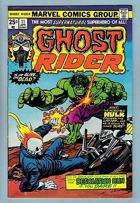 Ghost Rider # 11 Vfn- (7/7.5) Hulk Appearance- Glossy Higher Grade Us Cents Copy