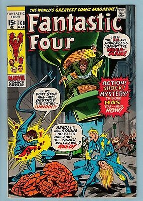FANTASTIC FOUR # 108 FNVF (7.0) GLOSSY HIGHER GRADE CENTS COPY- 1971 - 99p START