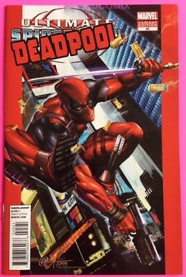 Deadpool 45 50Th Anniversary Horn Variant Cover Ultimate Spider-Man 1 Comic Book