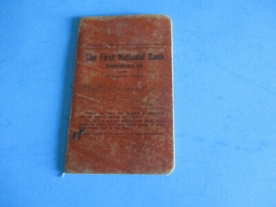 Stoneboro Pa.  1St National Bank Book 1918  W. E. Armstrong
