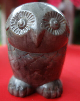 vintage inuit owl carving by thorn