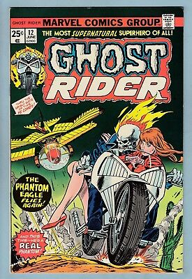 GHOST RIDER # 12 VFN+ (8.5)  GLOSSY HIGH GRADE US CENTS COPY - 99p START