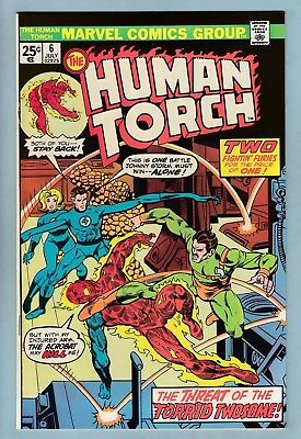 Human Torch # 6 Vfnm (8.5/9.0) Glossy High Grade Us Cents Copy - Marvel - 1975
