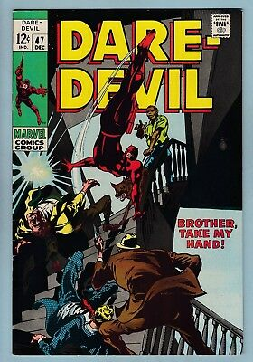 Daredevil # 47 Vfn+ (8/8.5) Glossy High Grade Us Cents Copy - 1968 - White Pages