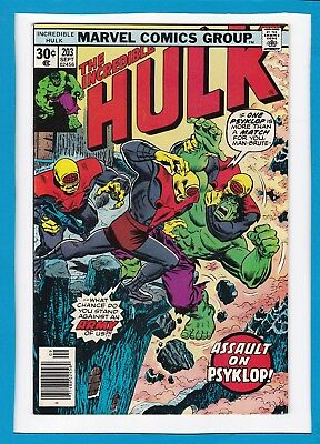 Incredible Hulk #203_Sept 1976_Vf/nm_Avengers_Doc Samson_Jarella_Bronze Age!
