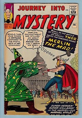 JOURNEY INTO MYSTERY # 96 VGFN (5.0) EARLY THOR- 1st MAD MERLIN APPEARANCE- 1963