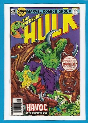 Incredible Hulk #202_August 1976_Very Fine/near Mint_Doc Samson_Psyklop_Jarella!