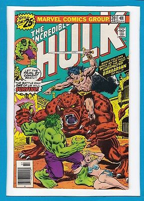 Incredible Hulk #201_July 1976_Very Fine+_Kronak The Barbarian_Bronze Age!