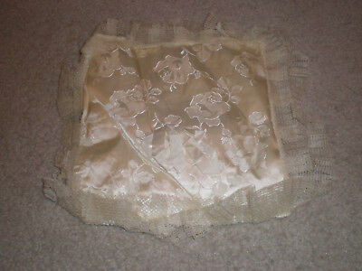 Antique Wedding Ring Bearer White Pillow from 1952 or before