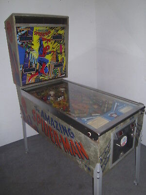Gottlieb Spiderman , Marvel Comic , Widebody  , 1980 ,  Flipper - Pinball