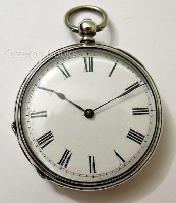 Antique Solid Silver Fob Pocket Watch C.K&Co Victorian Key Wind Open Face