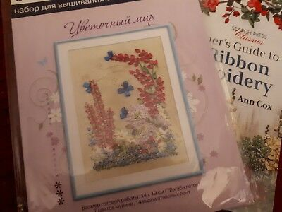 Ribbon embroidered Kit And Book