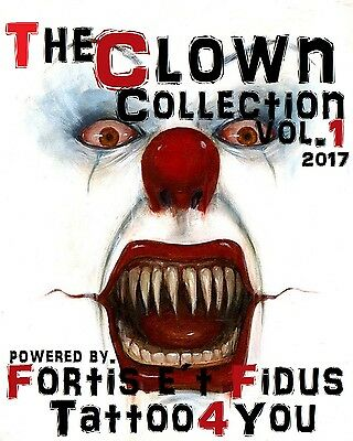 Tattoovorlagen DVD Clown Tattoo Motive Cd Flash tattoo book Neu 2017 +Bonus