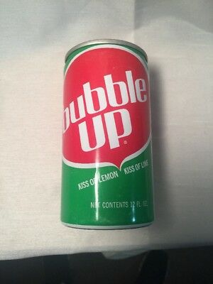Bubble Up Soda Can - Pull Tab 1970's Bottom Opened