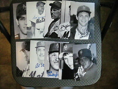 New York Mets Baseball Vintage Lot Of (20) Different Player Signed Postcards
