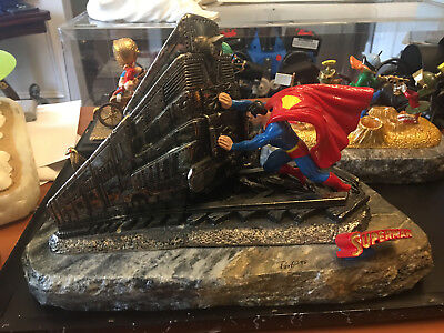 Ron Lee Statue Figure Signed  Superman More Powerful Than A Locamotive