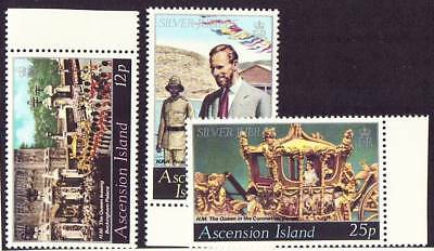 ASCENSION ISLAND Scott 218-20, MNH, Silver Jubilee, set of 3