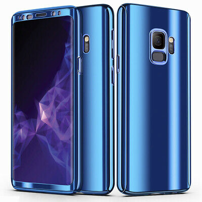 For Samsung S9+ S8 S7 Edge Note 8 Case 360 Full Hard with Screen Protector Cover