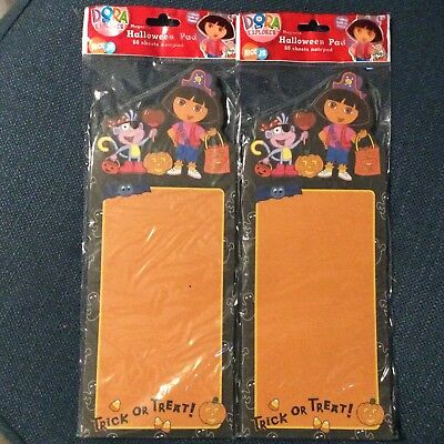2 Halloween Magnetic Note Grocery Pad DORA the Explorer Pirate Nickelodeon