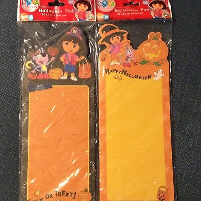 2 Halloween Magnetic Note Grocery Pad DORA the Explorer