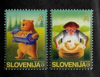 SLOVENIA Sc 591-2 NH issue of 2005 - FOLK TALES